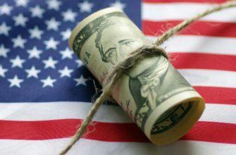Доллар на флаге