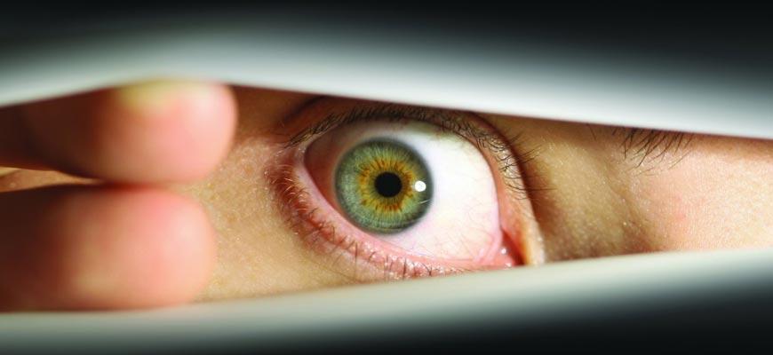 Глаз из жалюзи