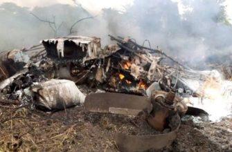 Место авиакатастрофы Южный Судан