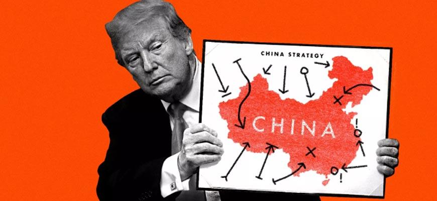 Трамп с картой Китая