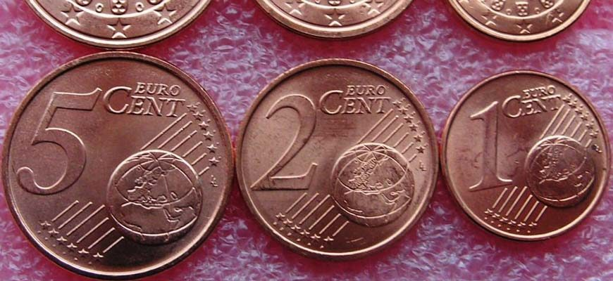 Евроценты 5 2 1 монеты