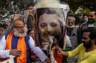 Индия протесты Грета Тунберг