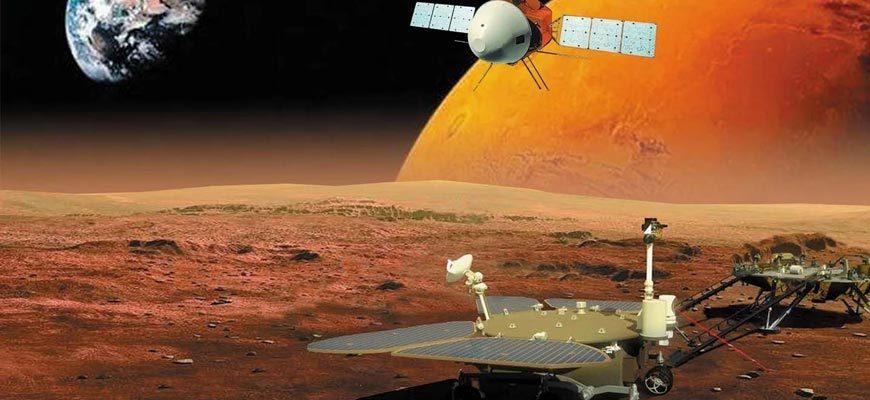 Марсоход-вид-на-Марс