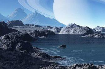 Сатурн вид с Титана