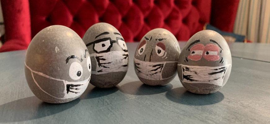 Яйца из бетона