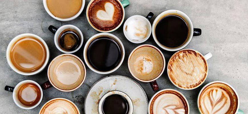 Много кружек кофе